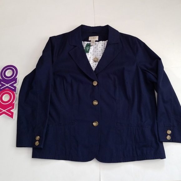 cc67c30165c LL BEAN chino twill navy jacket